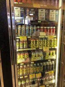 豊富なドリンクが揃った冷蔵庫