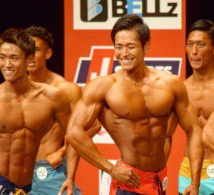 日本大会でのフィジークポージング